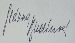 Budinova podpis