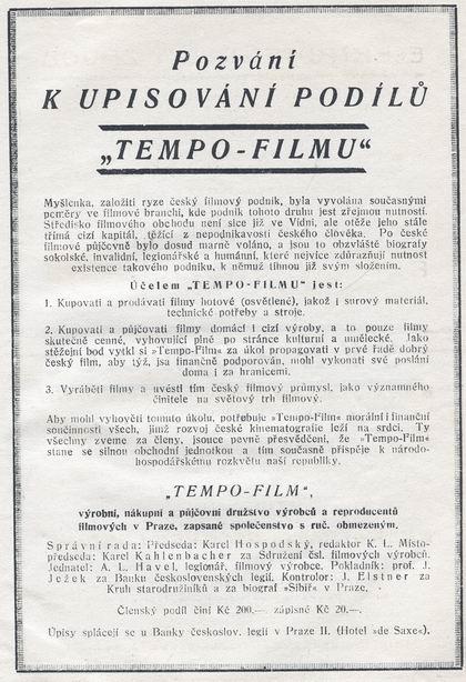 UPISOVANI PODILU 1922