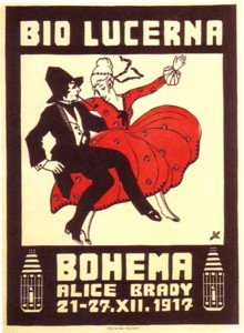 plakat BIO LUCERNA 1917